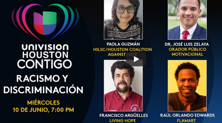 picture that announces univision forum on race and discrimination
